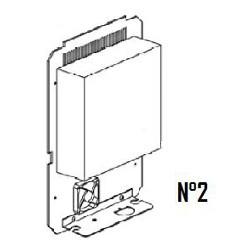 02 Ensemble alimentation électronique Ei (châssis alu + carte + ventilateur)