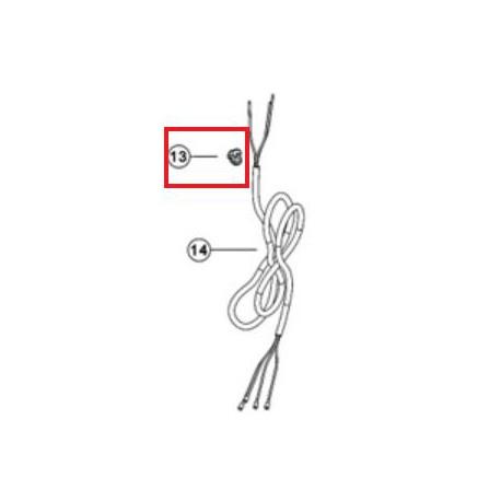 13 Grippe-fil pour câble d'alimentation cellule Ei
