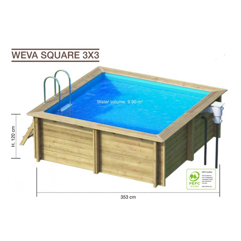 weva carre 3x3 piscine plus. Black Bedroom Furniture Sets. Home Design Ideas