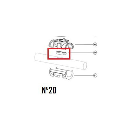 20 Joint plat de tuyau EU (DN50mm & DN63mm)