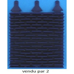 BROSSE LAMELLES PAR2 PVC EC Bleu pour vortex 3