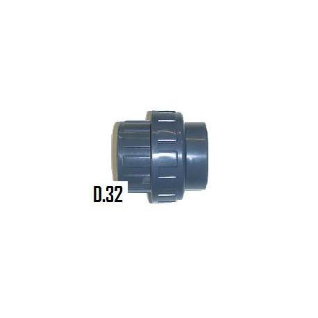 Union 3 pièces coller/coller D.32