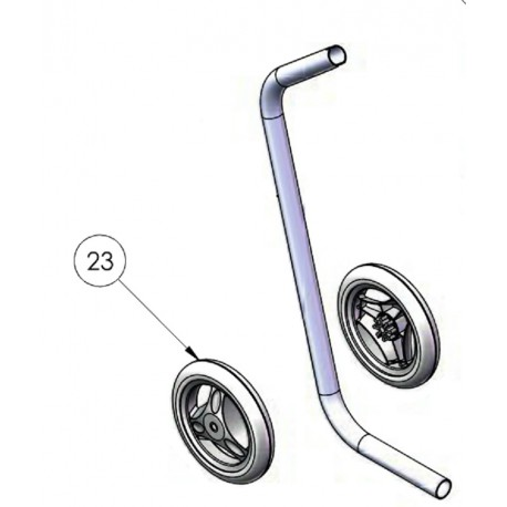 023 Roues chariot (x2)