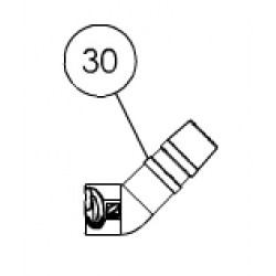 030 Coude Twist Lock 45° allongé rotatif