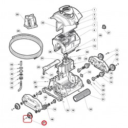 027 Vis plate 7x25mm TORX