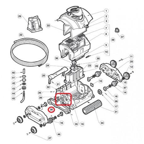 038 Ensemble palier moteur