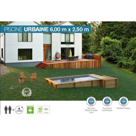 Piscine Urbaine 6 m x 2.50 m avec couverture automatique