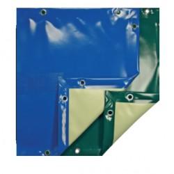 Couverture d'hiver opaque Eco bleu 8x4