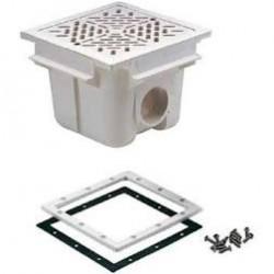 Bonde de fond carrée grille inox