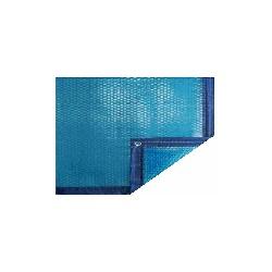 Bâche été bleu 8x4 bordée 2 côtés
