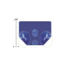 Bâche été Duolis bleu bordée 2 côtés sur mesure