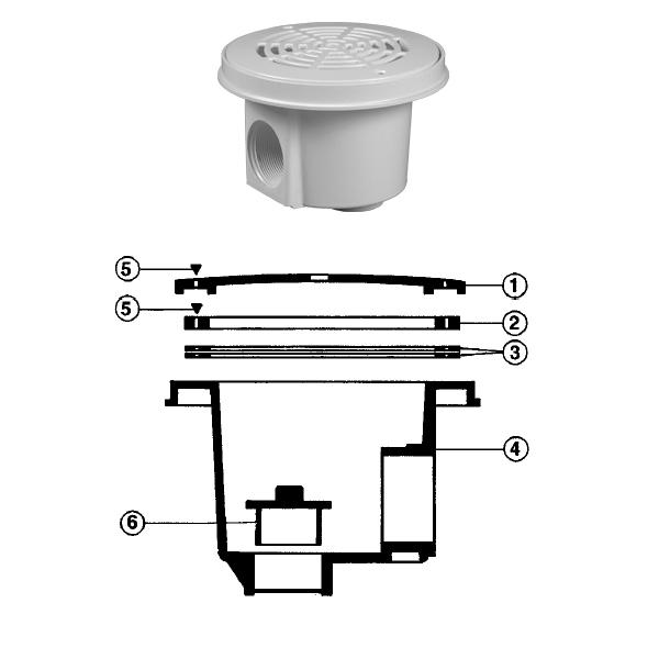 grille de bonde de fond pour piscine hayward am cofies. Black Bedroom Furniture Sets. Home Design Ideas